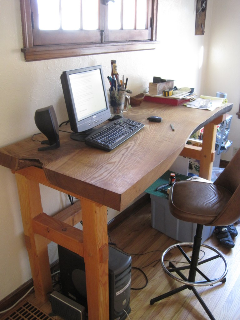 Catalpa and Fir Desk