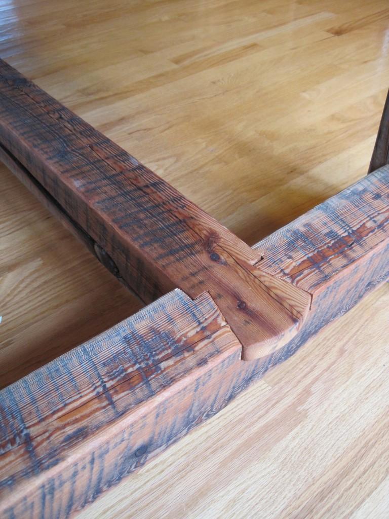 Barnwood Oak Table Dovetail
