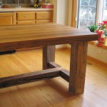 Barnwood Oak Table Detail
