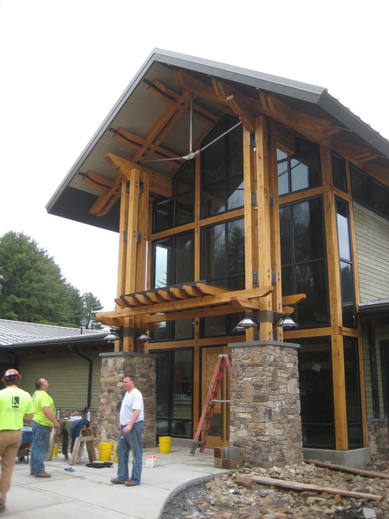 Sinnamahoning Park Visitor Center Entry Detail